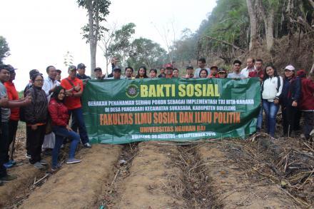 Implementasi Konsep TRI HITA KARANA, Universitas Ngurah Rai Gelar  Gerakan Tanam 1000 Pohon